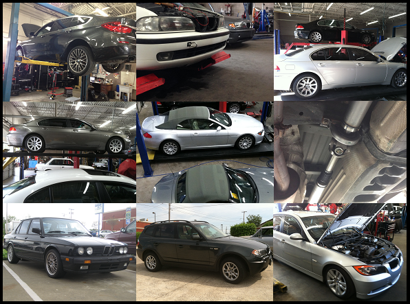 BMW Service Collage