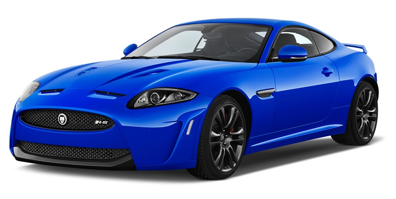 Front three quarter view of a 2012 Jaguar XKR-S Coupe